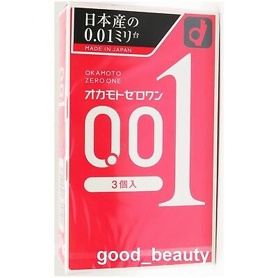 Okamoto Condom 001 Zero One 0.01 Ultra thin Thinnest Regular JAPAN