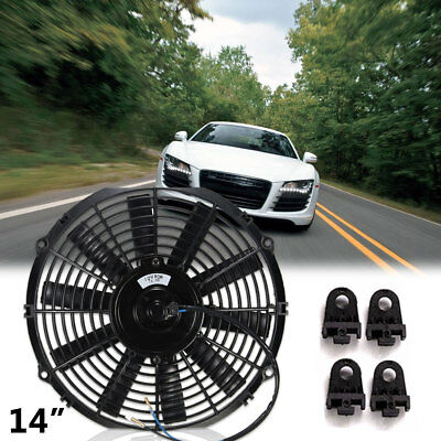 14'' Universal 2100RPM Slim Pull Push Electric Radiator Cooling Fan 12V
