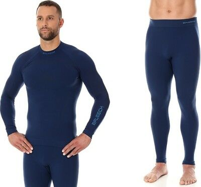 New BRUBECK Thermo Line Base Layer System Men Nilit Heat (LS13040+LE11840)