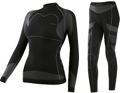 New. Spaio Dryarn Thermo System Ladies Base Layer Women black (SP0030+SP0031)