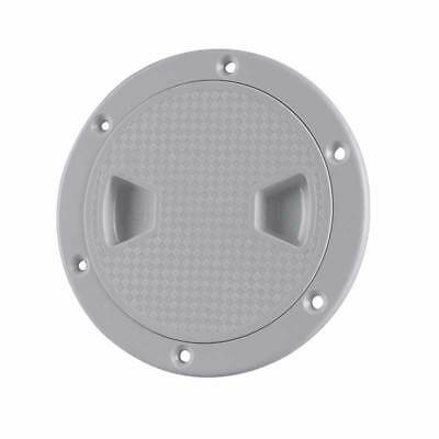 "8"" Marine Screw Out Deck Plate Inspection Hatch Plastic Access Boat RV US"