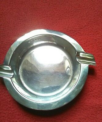 Birmingham Hallmarked Solid Silver Ashtray By C E Williams & Sons?? In 1940