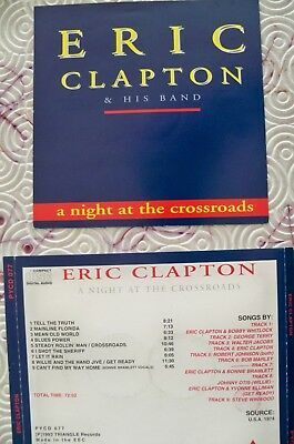 """Eric Clapton & His Band """"A Night At The Crossroads"""" Live Cd Usa Tour 1974 Pycd77"""