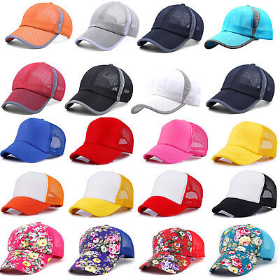 Unisex Sports Trucker Ponytail Baseball Cap Mesh Caps Snapback Sun Hat Women Men