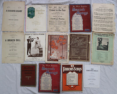 Vintage Sheet Music Collection 14 Old Australian Allans Palings Chappell Alberts
