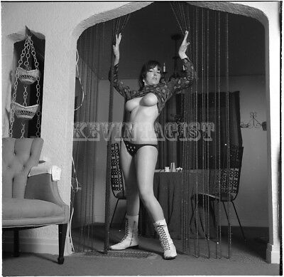 Vintage Nude Negative  BUSTY * MARIA MCNEIL * BOOTS