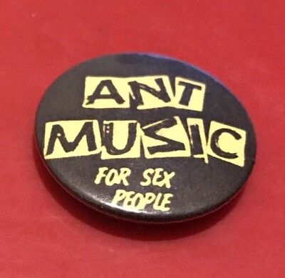' Ant Music For Sex People ' Vintage Badge