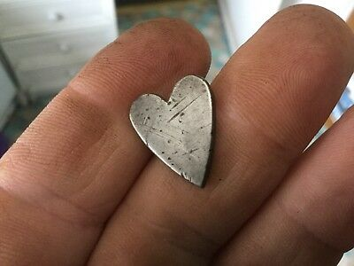 Medieval Silver Heart Mount