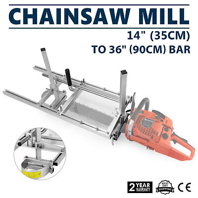 """Chain Saw Mill Log Planking Lumber Cutting fit 14"""" - 36"""" Chainsaw Guide bar"""