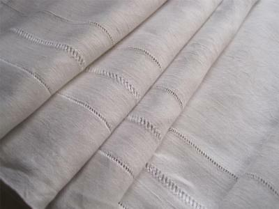 Gorgeous Large French Pure Linen Sheet, Superb Bedding Fabric Or Curtain