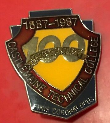 Castlemaine Technical College 1887-1987 Centenary Badge