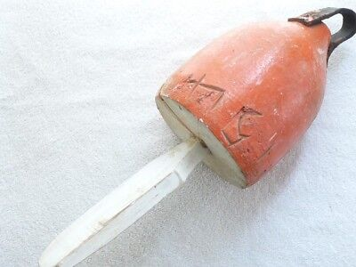 Vintage Maine Lobster Wood Buoy Marked 151 LDL