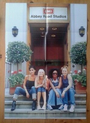 Spice Girls Fan Club double sided poster 23.5x33 inches 60x84cm sat on steps