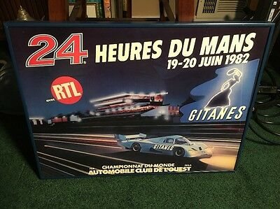 "24 Hours La Mans 1982 Official Poster Framed 21"" X 16"" Racing F1 Formula 1"
