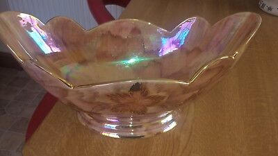 Oldcourt Lustre Decorative Bowl / Planter Handpainted