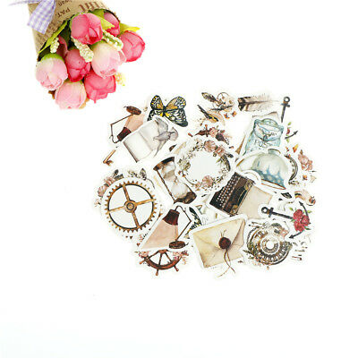 46pcs chapter of narrative paper decor diy diary scrapbooking label sticker LC