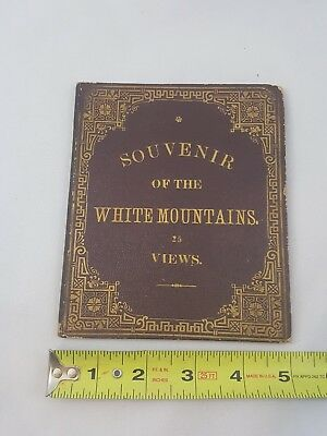 Antique Souvenir Book of 25 View's of the White Mountains NH Cog Rail, Old Man