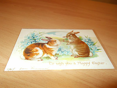 1907 Vintage Post Card To Wish You A Happy Easter.  (( Easter ))