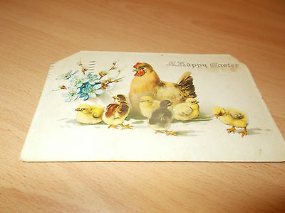 1913 Vintage Post Card Damage To Corners A  Happy Easter. (( Easter ))