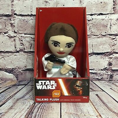 "Disney Star Wars  Princes Leia Talking Plush 9"" Medium Size  New In Box"