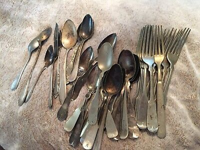 Mixed Lot Of Silverplate / Nickel Silver Flatware
