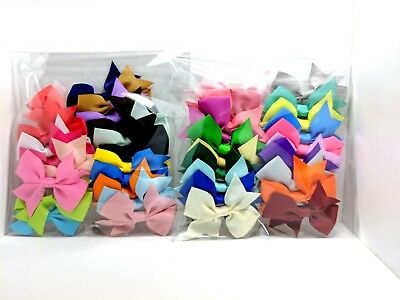 Hair Clip Bowknot Baby Girls Children Kids Flowers Accessories Hairpin 20pcs