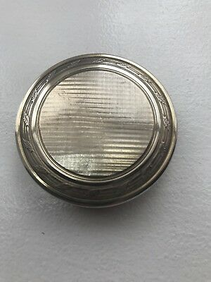 Antique Sterling/Solid Silver, Pill Box, Hallmarked London 1905,Louis Dessoutter