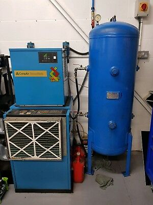 CompAir BroomWade 6000E Compressor with Dryer and 270L Tank