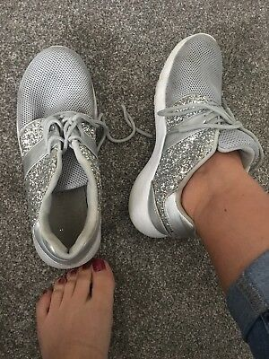womens well worn grey Trainers size 6