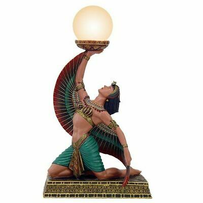 "18"" Tall Egyptian Ancient Egypt Winged Egyptian Goddess Isis Figural Table Lamp"