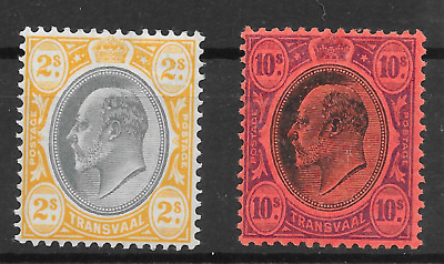 TRANSVAAL 1904-09  KEVII Duo (1036)