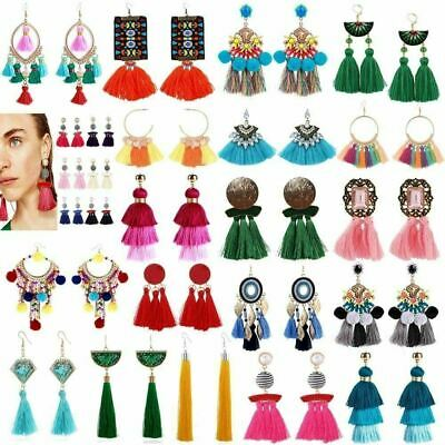 NEW Fashion Boho Dangle Ear Earrings Women Long Tassel Fringe Party Jewelry Gift