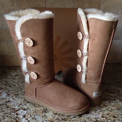 ea14fb2d3df UGG BAILEY BUTTON Triplet Triple Chestnut Tall Boots Size Us 6 ...