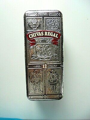 Chivas Regal Scotch Bottle Tin Collectible Storage 750 ml Aged 12 Years Bar Deco