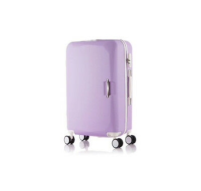 E906 Purple Lock ABS Universal Wheel Travel Suitcase Luggage 24 Inches W