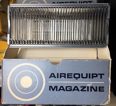 Lot of (9) Airequipt Automatic Slide Changer Magazines, Holds 36 2x2 Slides,