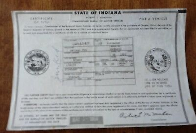 vintage car title 1952 studebaker coupe historical document