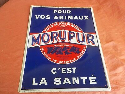 PLAQUE MORUPUR CIRCA 50's / french advertising sign farming /  ANDREIS MARSEILLE