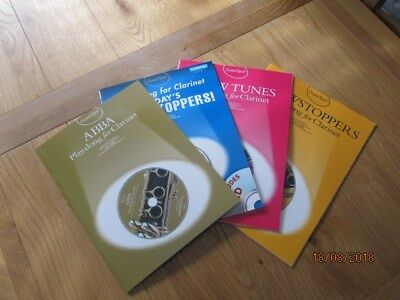 Playalong for Clarinet selection of 4 books with backing track CDs