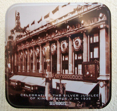 Selfridges Hinged Tin Box Commemorating the Silver Jubilee of  King George V