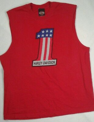 Harley Davidson Smoky Mountains Muscle Tee Men's XL Red Pigeon Forge, Tennessee