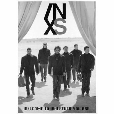 """MUSIC POSTER~INXS Welcome To Wherever You Are 1992 24x34"""" Michael Hutchence~NOS"""