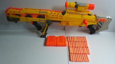 Nerf N-Strike Longshot CS-6 Gun 2 in 1 Scope 2 Magazines Darts Bullets FREE P&P