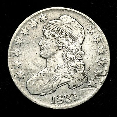 1831 ~**BETTER GRADE**~ Silver Capped Bust Half Dollar Antique US Old Coin! #D88