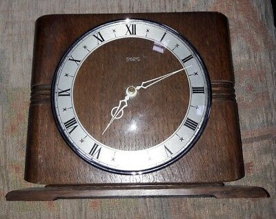 STUNNING SMITHS 8 DAY MANTEL CLOCK. 1955.Changed to battery movement.