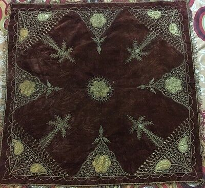 Antique Ottoman Gold Thread Work Hand Embroidery 19Th-Century