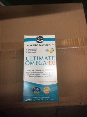Ultimate Omega D3 120 softgels by Nordic Naturals Exp 03/2021 (NEW)
