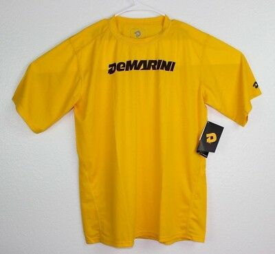 DeMARINI Men's Wordmark Training Yellow T -Shirt Short Sleeve Sz XL NWT