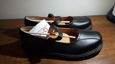 White Cross Genuine Leather Girls' School Uniform Black Shoes Size 9