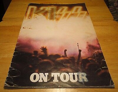 KISS On Tour Destroyer (1976) Concert Program Book with Kiss Army Insert-Vintage